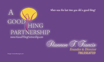 A Good Thing Partnership Business Card