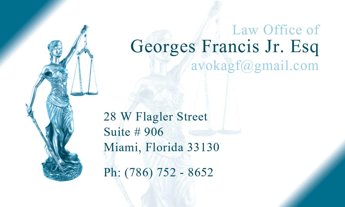 Attorney At Law, Business Cards