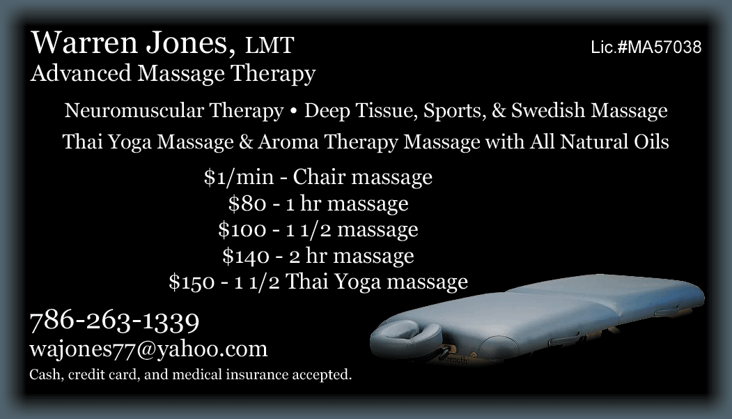 Warren Jones, LMT, Advanced Massage Therapy