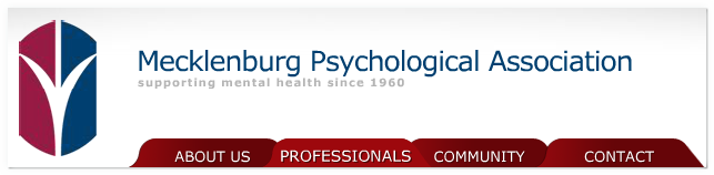 Mecklenburg Psychological Association, Supporting Mental Health Since 1960...