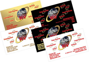 Planet RV & Travel Center Business Cards
